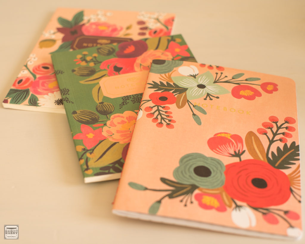 Three Rifle Paper Floral Notebooks