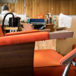 Vintage Red Barber Chair In Kazumi's Barber Shop