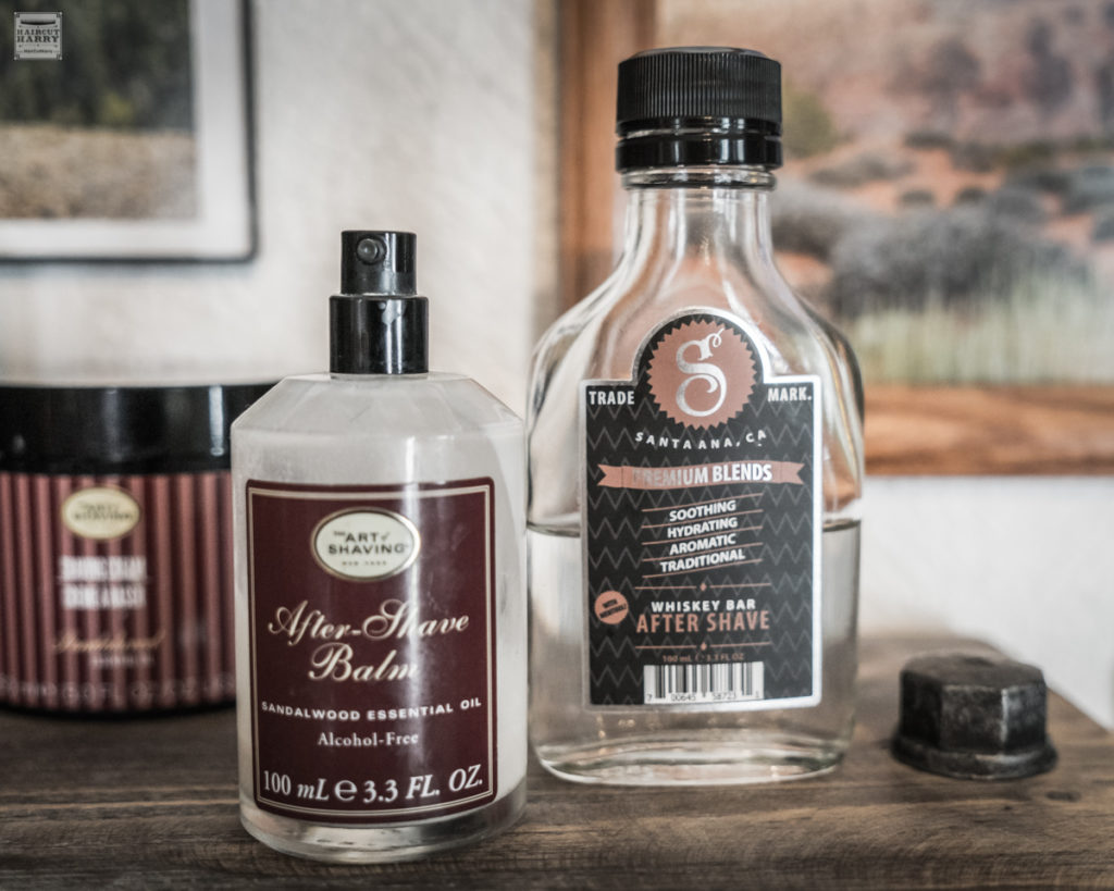 After Shave products used at Steamboat Barbershop.