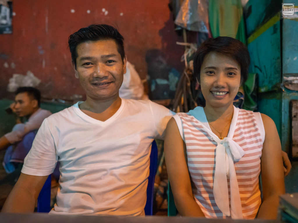 Smiling Couple Enjoying 19th Street Night Market