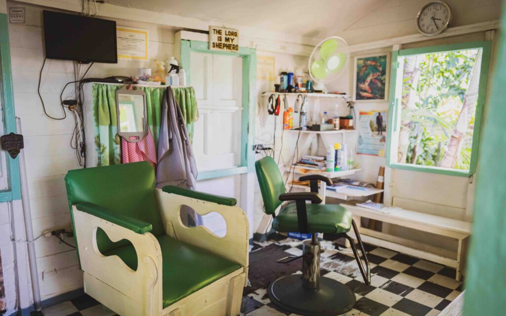 Wag's Barbershop is in a traditional wooden Antiguan home that was originally built for Paddy's grandmother.