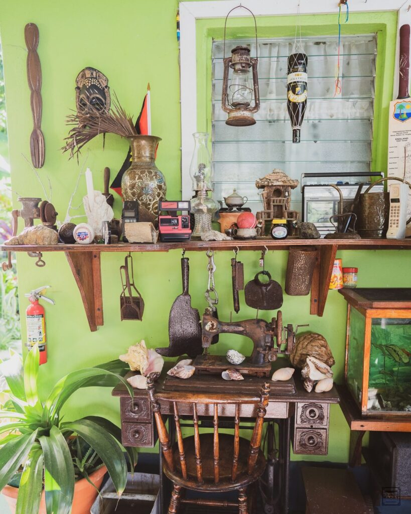 Paddy has a collection of vintage artifacts on display at Wag's Barbershop.