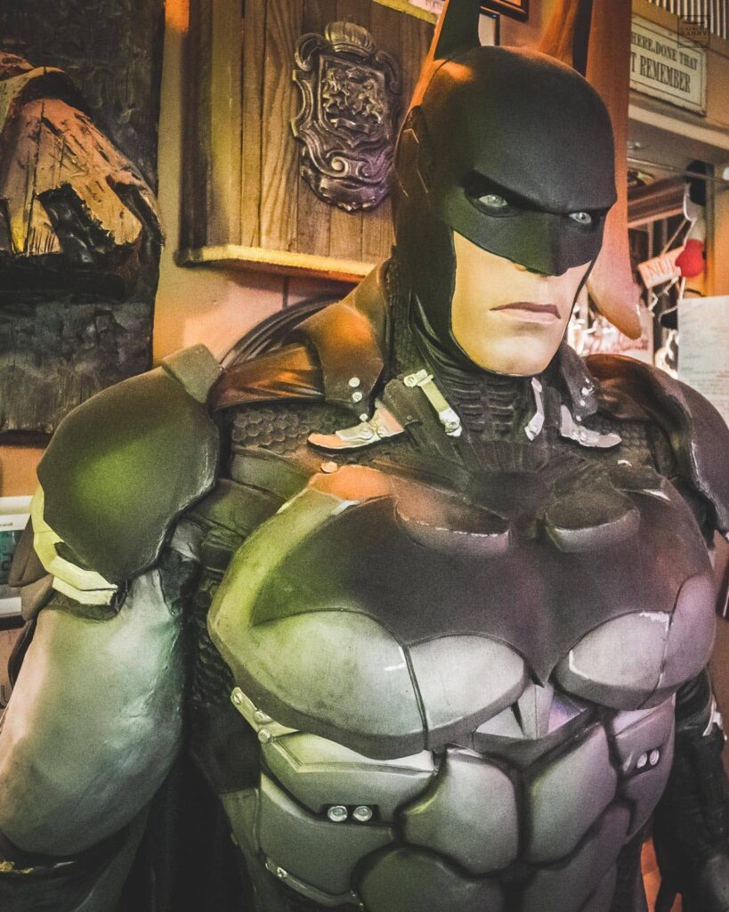 Inside Matt's Barber Parlor, you will find a life-size statue of Batman