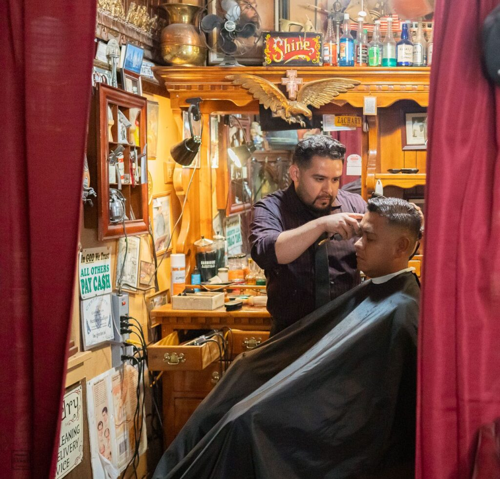 Step inside Matt's Barber Parlor and you'll find Matt cutting hair