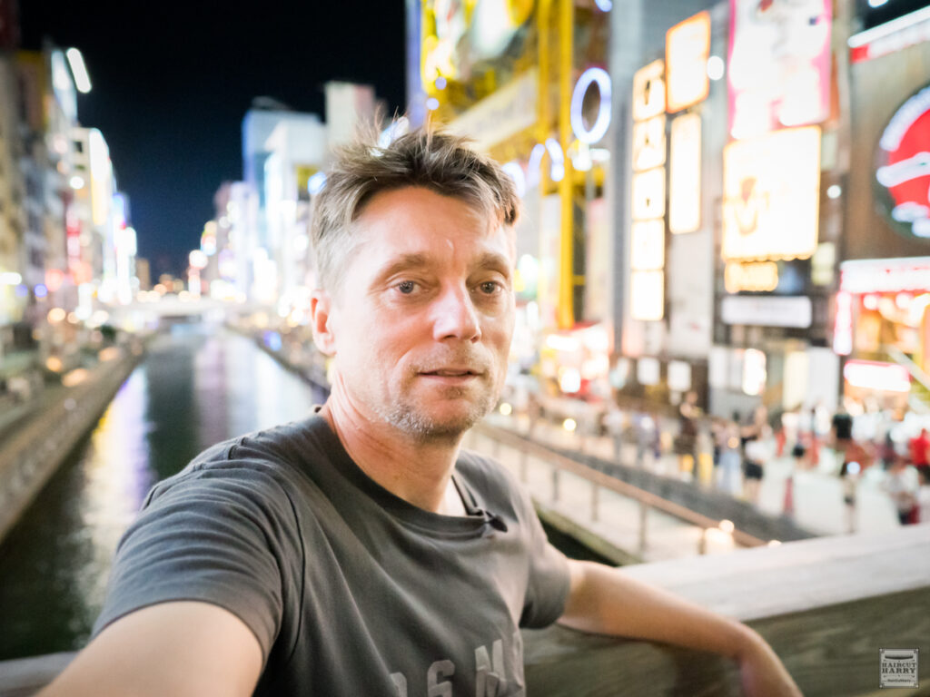 Q&A With Haircut Harry.  Spending the evening exploring Osaka, Japan.